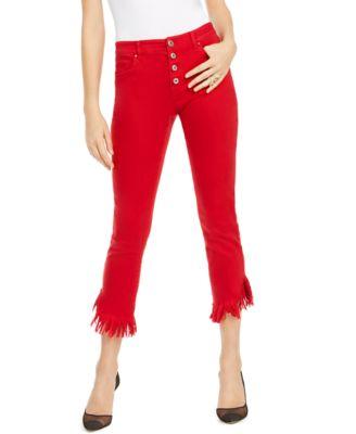 INC Angled Mop-Hem Straight-Leg Jeans, Created For Macy's
