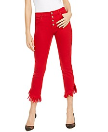 INC Angled Mop-Hem Straight-Leg Jeans, Created for Macy's
