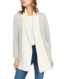 INC Mixed-Stitch Cable-Knit Completer Cardigan, Created For Macy's