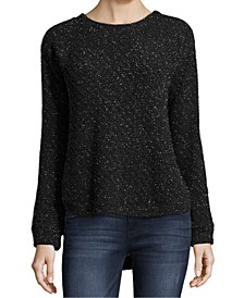 Petite Metallic Pullover Sweater
