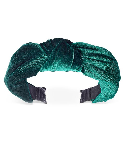INC International Concepts INC Velvet Knotted Headband, Created For Macy's