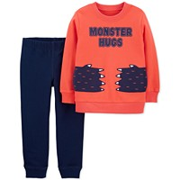 Carter's Baby Boys 2-Piece Monster Hugs Top & Jogger Pants Set