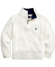 Toddler Boys Cotton Half-Zip Sweater