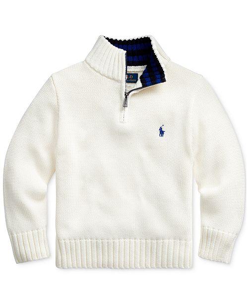Polo Ralph Lauren Toddler Boys Cotton Half-Zip Sweater