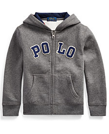 Polo Ralph Lauren Toddler Boys Cotton-Blend-Fleece Hoodie