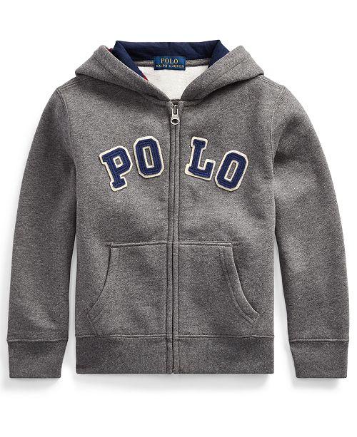 Polo Ralph Lauren Little Boys Cotton-Blend-Fleece Hoodie