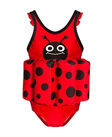 Toddler Girl Ladybug Float Suit