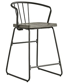Mabel Iron and Grey Finish Counter Height Chair