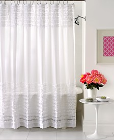 Creative Bath Accessories, Sheer Ruffles Shower Curtain