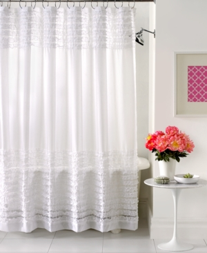 Creative Bath Accessories, Sheer Ruffles Shower Curtain Bedding