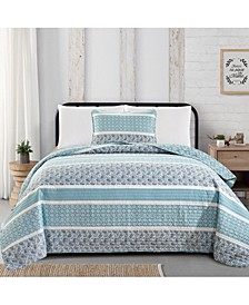 Great Bay Home Kadi Collection Striped Quilt Set