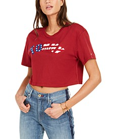 Logo Cropped Cotton T-Shirt