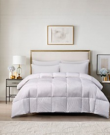 240 Thread Count Cotton White Goose Feather Down Medium Warmth Comforter Collection
