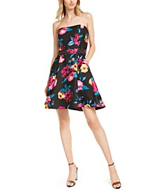 Strapless Bow-Back Fit & Flare Dress