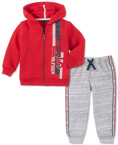 Tommy Hilfiger Baby Boys 2-Pc. Fleece Zip-Up Hoodie & Jogger Pants Set