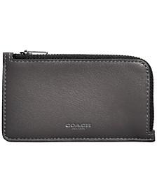 Men's Zip Leather Card Case
