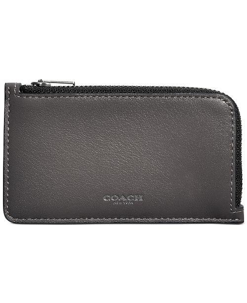COACH Men's Zip Leather Card Case