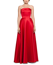 XSCAPE Strapless Ball Gown