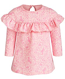 Baby Girls Enchanted-Print Ruffle Dress, Created for Macy's