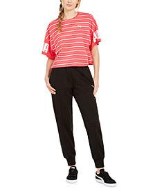 Puma Rebel Cotton Striped T-Shirt