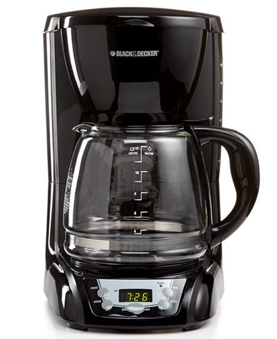 Black & Decker DLX1050B Coffee Maker, 12 Cup Programmable - Coffee, Tea & Espresso - Kitchen ...