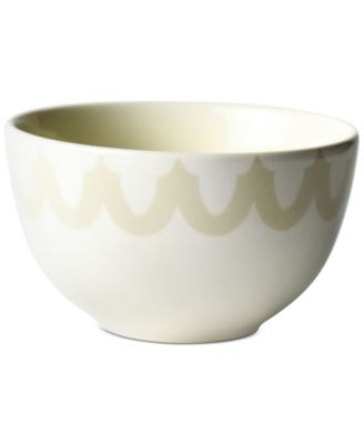 by Laura Johnson Ecru Arabesque Trim Small Bowl