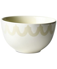 by Laura Johnson Ecru Arabesque Trim Small Bowl