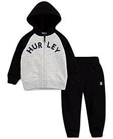 Toddler Boys 2-Pc. Zip-Up Fleece Hoodie & Jogger Pants Set