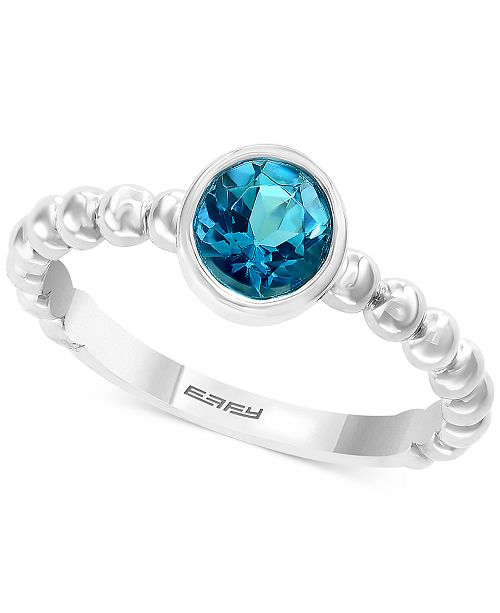 EFFY Collection EFFY® Blue Topaz Bezel Statement Ring (1-5/8 ct. t.w.) in Sterling Silver (Also in Citrine)