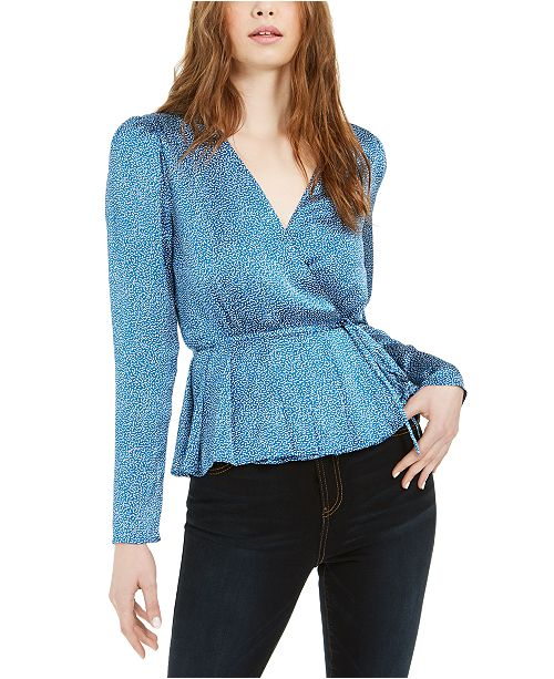 LEYDEN Pleated Wrap Top
