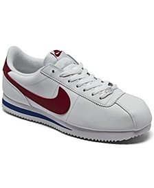Men's Cortez Basic Leather Casual Sneakers from Finish Line