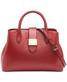 Lyla Leather Center-Zip Satchel, Created for Macy's