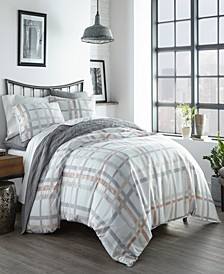 Atlas Plaid Full/Queen Duvet Cover Set