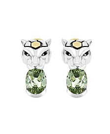 EFFY® Green Amethyst (2-3/8 ct. t.w.) Earrings in 18k Yellow Gold and Sterling Silver
