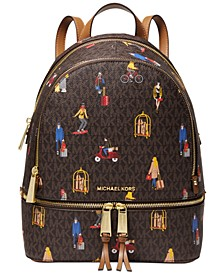 Rhea Zip Leather Backpack