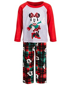 Toddler Girls 2-Pc. Minnie Mouse Plaid Pajama Set