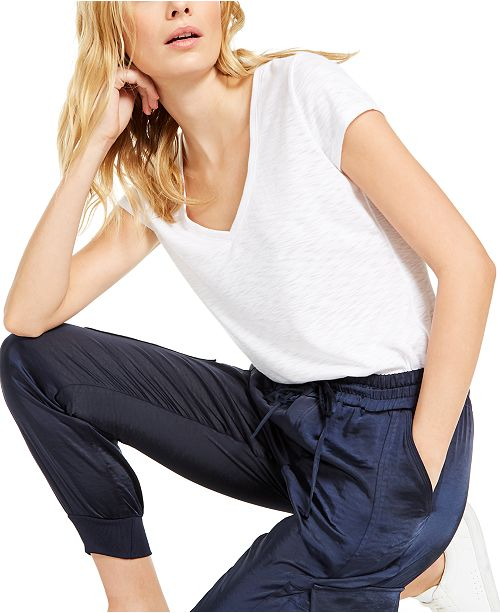 INC International Concepts INC Textured V-Neck Top, Created For Macy's