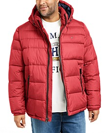 Men's Big & Tall Quilted Hooded Puffer Jacket, Created for Macy's