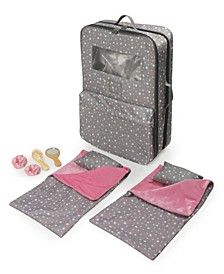 """Pack Pretty Double Doll Carrier with 2 Sleeping Bags for 18"""" Dolls"""