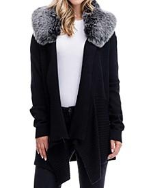 Detachable Faux Fur Collar Sweater