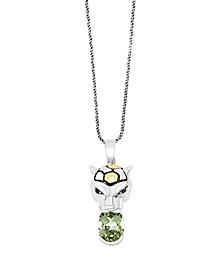 EFFY® Green Amethyst (1-7/8 ct. t.w.) Pendant in 18k Yellow Gold and Sterling Silver