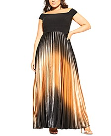 Trendy Plus Size Passion Ombré Maxi Dress