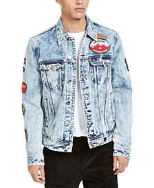 Men's Dillon Logo Denim Jacket with Patches