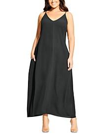 Plus Size Aruba V Maxi Dress