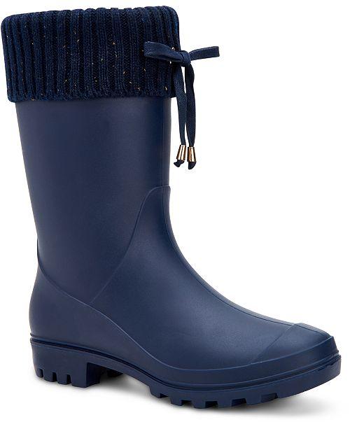 Charter Club Women's Camylla Rain Boots, Created for Macy's