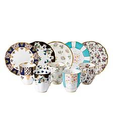 100 Years 1900-1940 10-Piece Set,  Mug & Plate Assorted