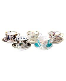 100 Years 1900-1940 5-Piece Teacup & Saucer Set