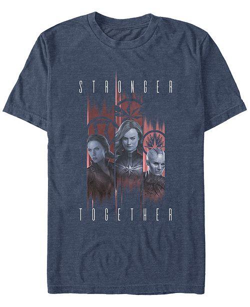 Marvel Men's Avengers Endgame Stronger Together Panel Portraits, Short Sleeve T-shirt
