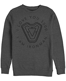 Men's Avengers Endgame Iron Man I Love You 3000, Crewneck Fleece