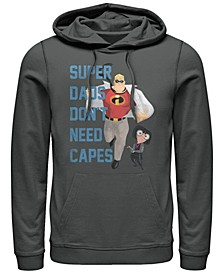 Pixar Men's Incredibles Super Dads No Capes, Crewneck Fleece